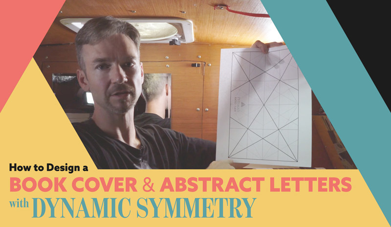 How to Design a Book Cover and Abstract Letters with Dynamic Symmetry