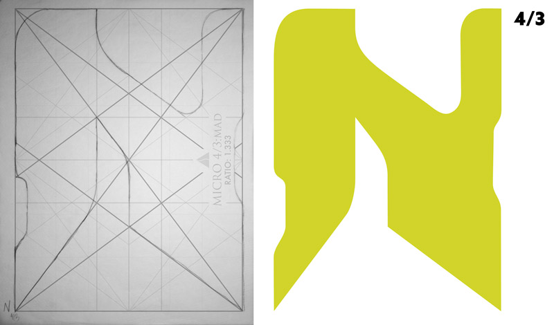 dynamic symmetry-How to design a book cover and abstract letters-letter-n--4-3-example