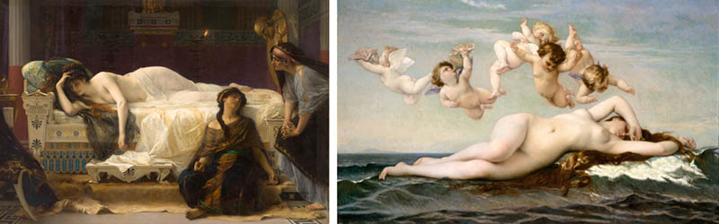 Nudity in Art-Michelangelo and More-Alexandre Cabanel-comparison-1