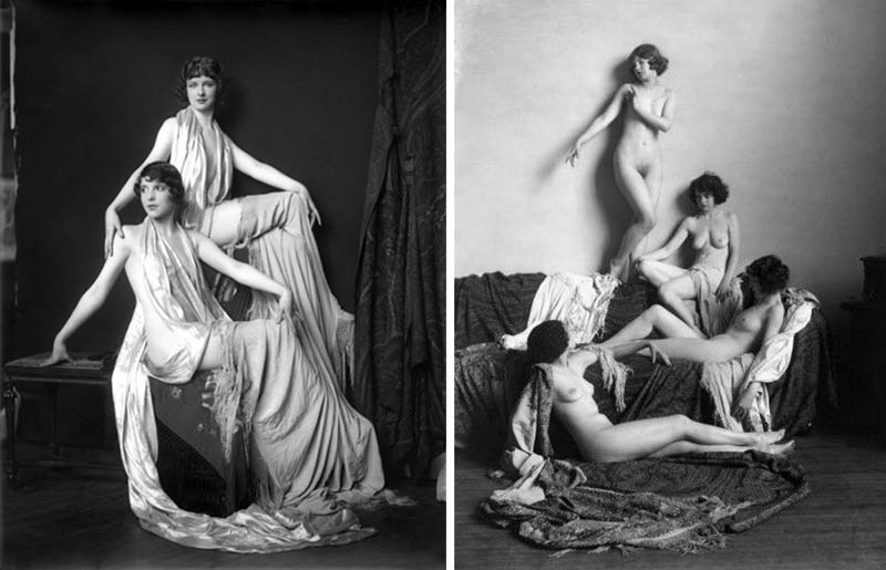 Nudity in Art-Michelangelo and More-Alfred Cheney Johnston-comparison-3