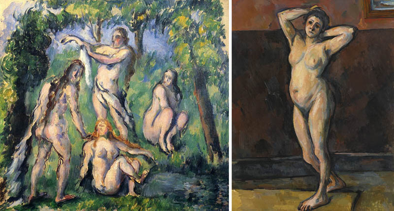 Nudity in Art-Michelangelo and More-Cezanne-comparison-2