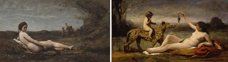Nudity in Art-Michelangelo and More-Corot-comparison-2