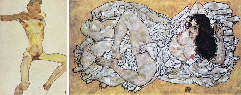 Nudity-in-Art-Michelangelo-and-More-Egon-Schiele-comparison-2