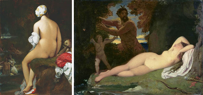 Nudity in Art-Michelangelo and More-Ingres-comparison-2