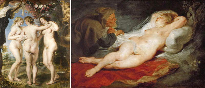 Nudity in Art-Michelangelo and More-Peter Paul Rubens-comparison-1
