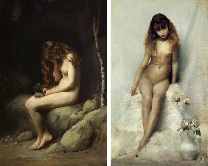 Nudity in Art-Michelangelo and More-Thomas Kennington-comparison-1