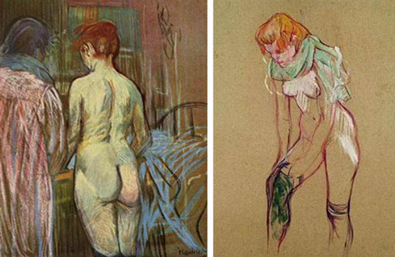 Nudity in Art-Michelangelo and More-Toulouse Lautrec-comparison-1