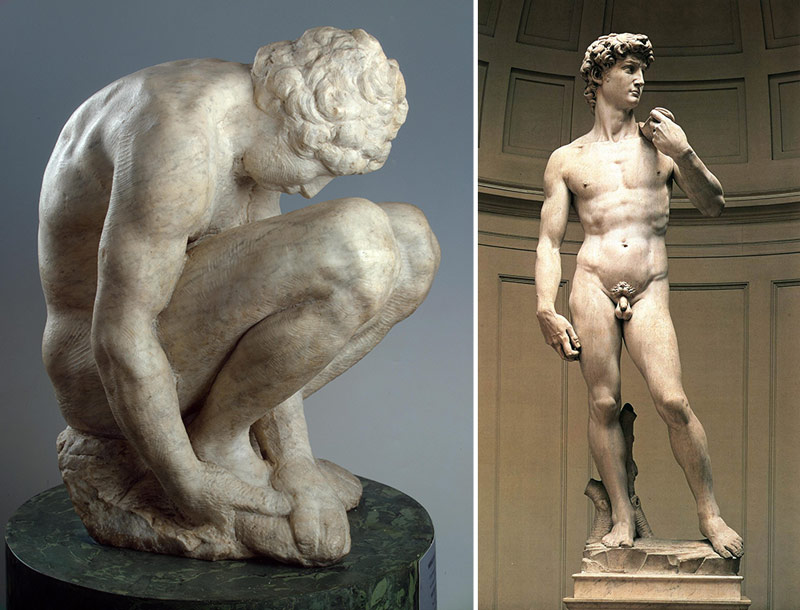 Nudity-in-Art-Michelangelo-and-statue-comparison-2